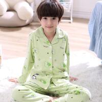 儿童睡衣春季长袖新款2018年男孩子薄款家居服套装