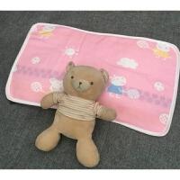 宝宝儿童枕头套全纯棉0-1-3-6岁婴儿幼儿园荞麦壳30*50四季通用 粉红色 枕套佩琪粉35*55