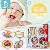 婴幼儿宝宝玩具摇铃牙胶手摇铃婴儿玩具0-3-6-12个月0-1岁
