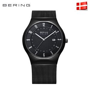 Bering白令手表钢带男士光动能表时尚简约太阳能商务男表14640