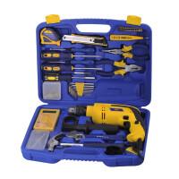 帕司特54件套家用工具组合套装家用组套电钻冲击钻五金工具箱