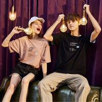 [直降]唐狮情侣装夏装新款短袖T恤男韩版宽松青少年学生打底女