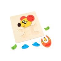 儿童玩具木质拼图早教益智宝宝积木制立体幼女孩男孩1-2-3-6周岁