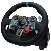 罗技(Logitech)G29 力反馈游戏方向盘 游戏设备 效果逼真 仿真*飞车PS3/4赛车900度模拟驾驶 单方向