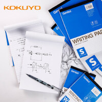 日本KOKUYO国誉上翻A4草稿本横线记事本方格笔记本空白本学生用