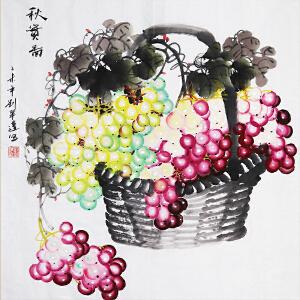 中国书画家协会会员、著名女画家刘翠莲老师作品――秋实图