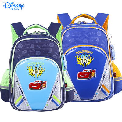 Disney/迪士尼 麦昆汽车男童小学生1-4年级卡通双肩减负护脊书包RB0080