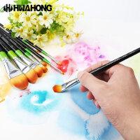 韩国华虹hwahong水彩笔/丙烯画笔/水粉立构图案笔982油画笔