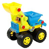 儿童玩具工程车推土挖土挖掘机惯性车大号套装沙滩玩具车