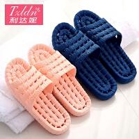 浴室拖鞋男女夏天卫生间居家室内防滑镂空漏水洗澡塑料家用凉拖鞋