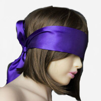 情趣眼罩丝滑绸缎面具性感sm捆绑手环黑色配饰束缚带夫妻调情玩具GA