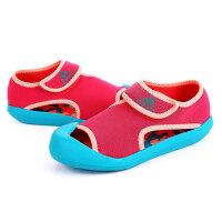 adidas阿迪达斯童鞋女小童4-10岁魔术贴休闲凉鞋AF3878