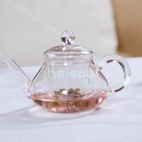 耐高温玻璃花茶壶 泡茶壶带过滤壶