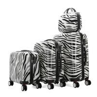 七夕礼物行李箱万向轮拉杆箱24寸旅行箱登机箱行李包品牌 斑马纹 24寸单箱