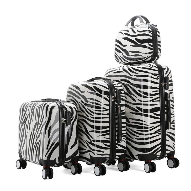 七夕礼物行李箱万向轮拉杆箱24寸旅行箱登机箱行李包品牌 斑马纹 24寸单箱 发货周期:一般在付款后2-90天左右发货,具体发货时间请以与客服协商的时间为准