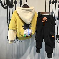男童秋冬装套装洋气儿童加绒冬季两件套潮