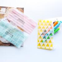 韩国创意文具卡通可爱学生铅笔袋收纳袋pvc文件袋大容量
