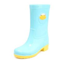 DRIPDROP萌物中筒纯色防水雨靴女士胶鞋水靴女水鞋套鞋雨鞋女春夏