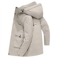 【1件3折 到手价:375元】高梵男装2019新款羽绒服男短款连帽潮流帅气保暖男士冬季外套