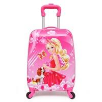 儿童拉杆箱行李箱16寸18寸定制可爱卡通四轮拖箱宝学生旅行箱 红彩 18寸新芭比
