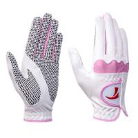 高尔夫球手套女士超纤细布手套golf女士手套加强防滑运动手套