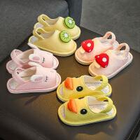 宝宝拖鞋女童1-3岁春秋2儿童防滑软底婴幼儿男童地板家居夏凉拖鞋