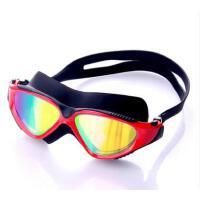 泳眼镜大框电镀膜时尚防水防雾近视潜水镜男女情侣运动装备