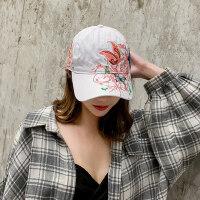 帽子女韩版潮百搭鸭舌帽户外时尚刺绣嘻哈遮阳防晒棒球帽