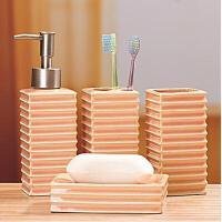 陶瓷卫浴四件套 浴室洗漱卫浴家居用品卫浴套装 款式随机