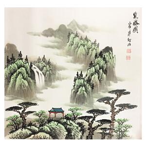 姚树昭《揽胜图》著名画家