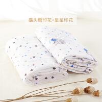 婴儿襁褓包巾纯棉双层浴巾柔软盖毯宝宝洗澡巾夏季新生儿纱布被子