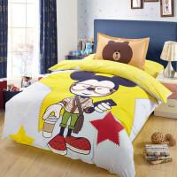 三件套卡通全棉套件儿童床上用品定制 三件套被套1.6*2.1米床单