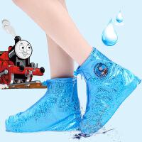 迪士尼儿童鞋套加厚防水雨天防雨鞋套男女学生雨鞋套