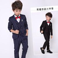 男孩男宝儿童西装套装男三件套宝宝小西服英伦韩版学生礼服秋季潮