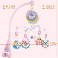 新生婴儿玩具0-1岁床铃音乐旋转床上挂件3月初生宝宝床头摇铃