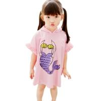 儿童游泳衣女孩女童美人鱼中大童比基尼小荷叶三角温泉三件套