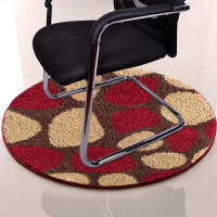圆形地毯电脑椅垫 客厅卧室床边毯防滑垫餐桌吊篮椅垫