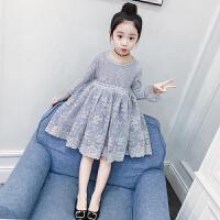 女童连衣裙春装新款儿童洋气裙子韩版中大童小女孩蕾丝公主裙