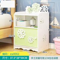 床头柜简约卧室多功能组装迷你收纳柜床边小柜子经济型欧式储物柜 f3i