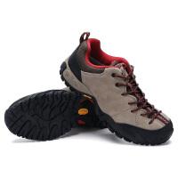 爬山户外鞋登山鞋夏季男鞋徒步鞋防水防滑越野跑步运动旅游鞋 卡其色(标准运动鞋码)