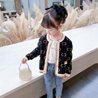 女童针织衫开衫儿童洋气毛衣外套宝宝线衣小童装上衣2021秋装新款