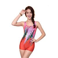 YINGFA英发 女士印花连体平角泳衣Y1670 修身舒适泳衣