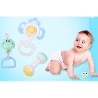 婴幼儿玩具 手摇铃玩具套装牙胶磨牙棒宝宝儿童早教益智礼盒装生日礼物 爱婴乐牙胶摇铃10件套