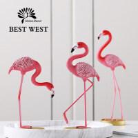 火烈鸟装饰品摆件北欧风格家居闺蜜新婚礼品实用创意结婚礼物创意