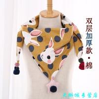 韩版春秋冬季儿童薄款围巾 男童可爱女围脖公主宝宝婴儿小孩三角巾