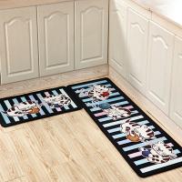 时尚个性可爱卡通地垫地毯卧室床边脚垫门垫厨房浴室吸水防滑垫黑