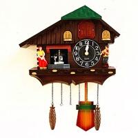 布谷鸟壁挂钟玩偶田园客厅挂钟咕咕钟创意卡通儿童房小鸟报时钟表 20英寸