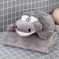 卡通抱枕被子两用午睡枕头汽车办公室床头沙发靠枕靠垫空调被毯子 抱枕均码(毯子1米*1.7米)【收藏加购送眼罩】