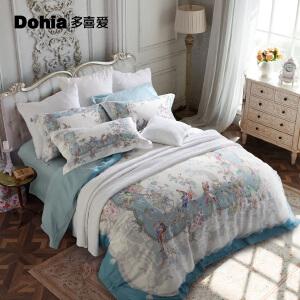 多喜爱家纺提花四件套欧式床品宫廷风床单套件花羽庭