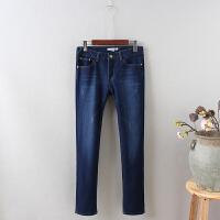 K8秋冬加绒牛仔裤女长裤冬显瘦加厚女裤保暖小脚铅笔裤子0.75